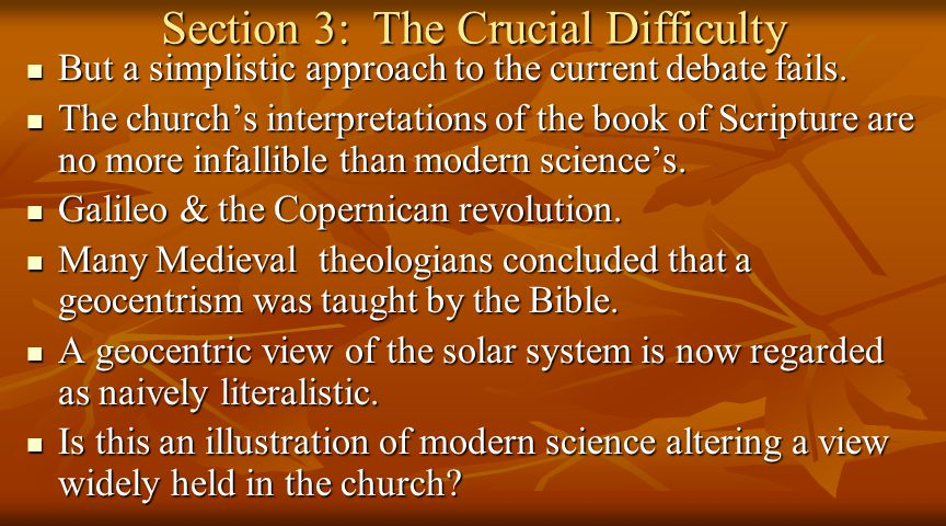 Section 3: The Crucial Difficulty But a simplistic approach to the current debate fails.