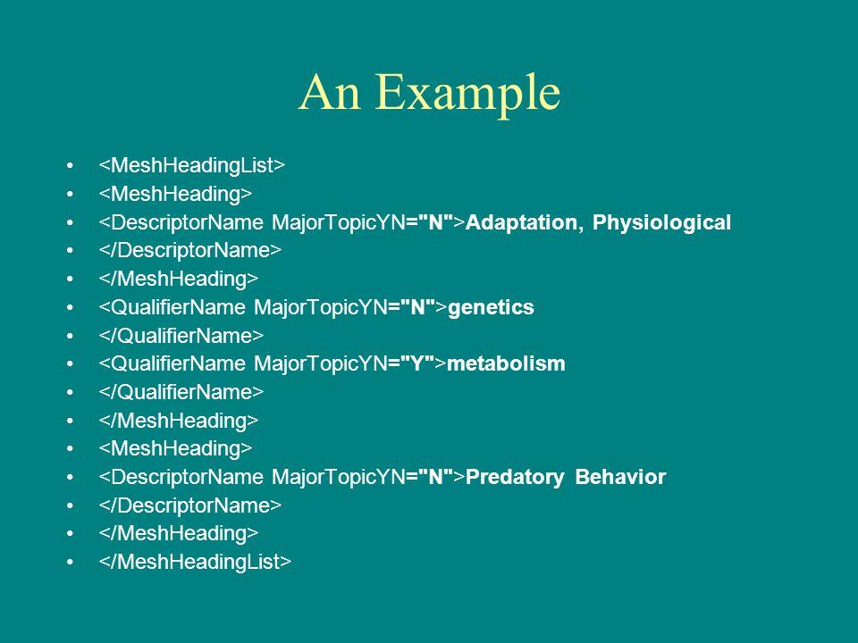 An Example Adaptation, Physiological genetics metabolism Predatory Behavior