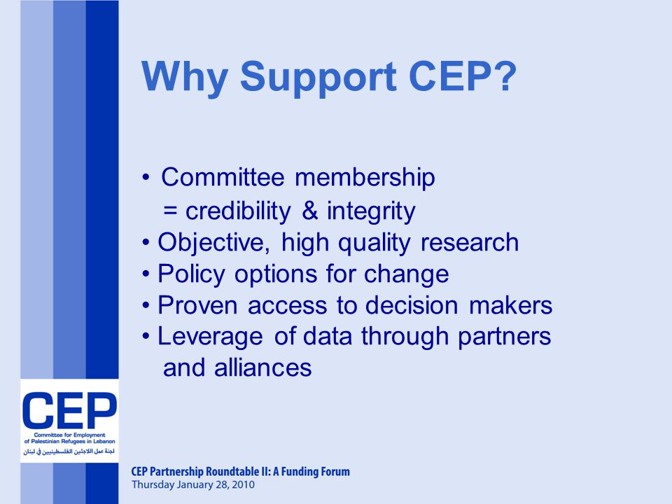 Why Support CEP.