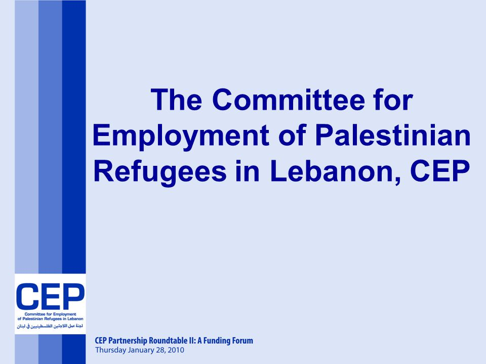 The Committee for Employment of Palestinian Refugees in Lebanon, CEP
