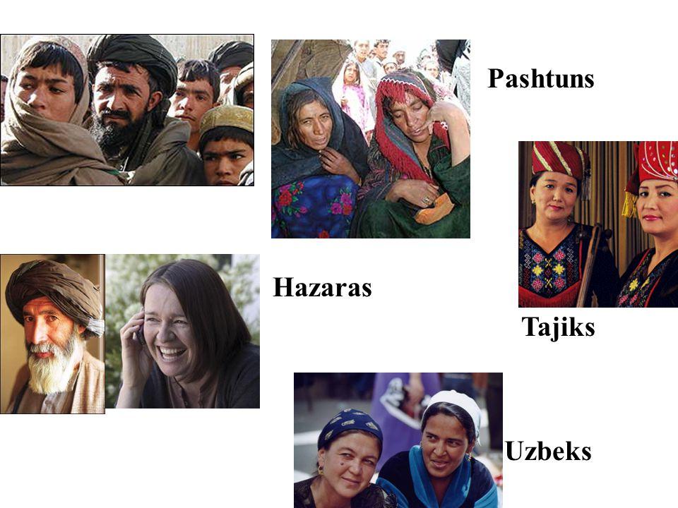 Pashtuns Hazaras Tajiks Uzbeks