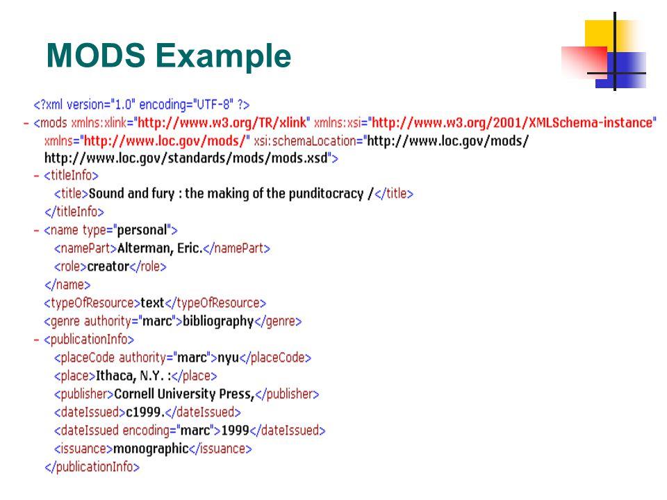 MODS Example