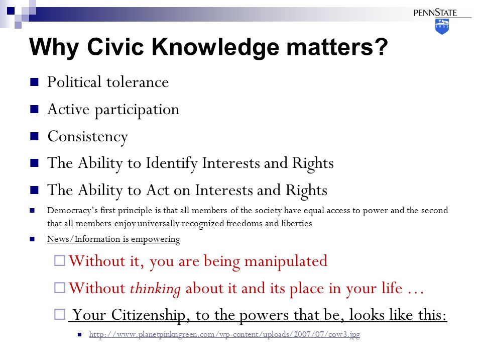 Why Civic Knowledge matters.