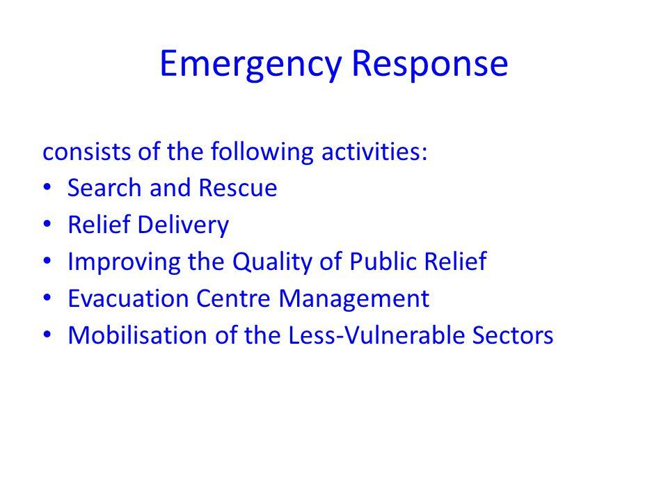 Evacuation Centre Management