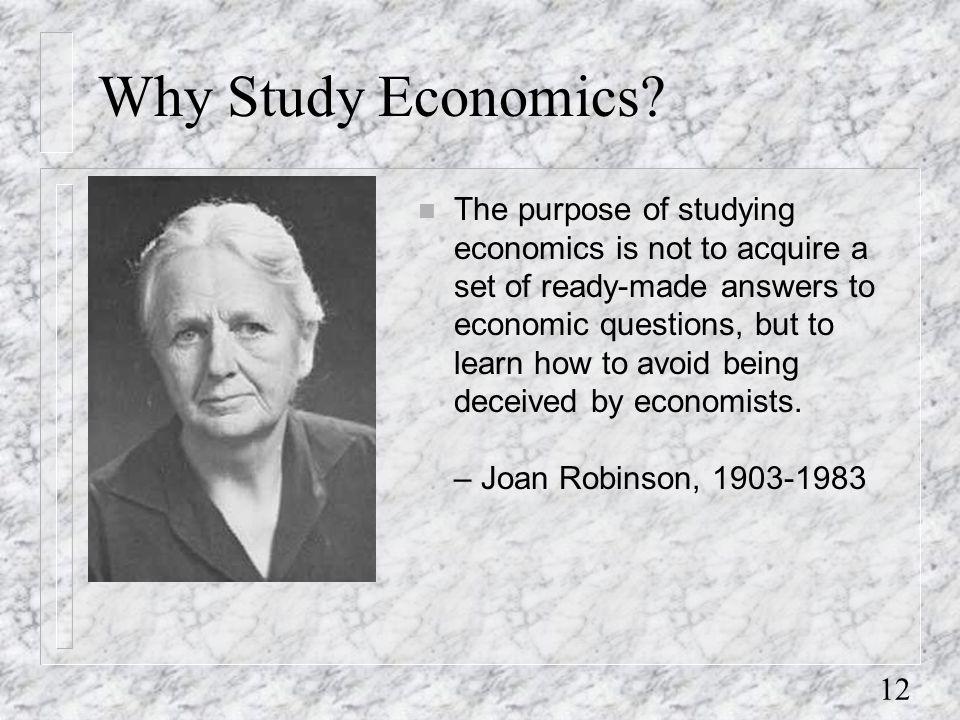 12 Why Study Economics.