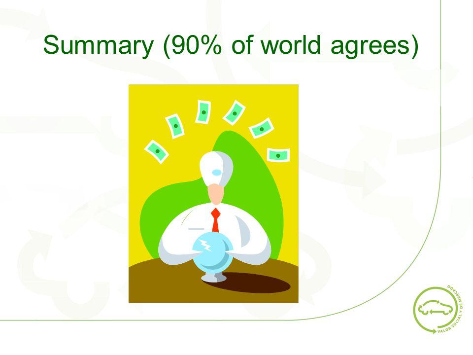 Summary (90% of world agrees)