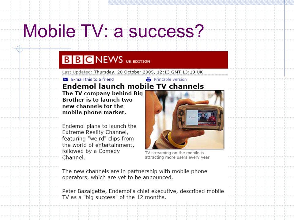 Mobile TV: a success?