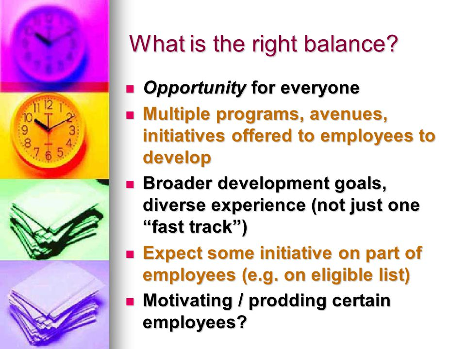 What is the right balance.