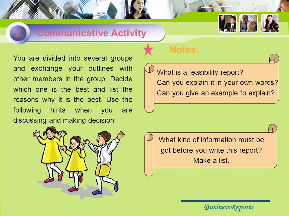 Business Reports 1.What is a feasibility report.Can you explain it in your own words.