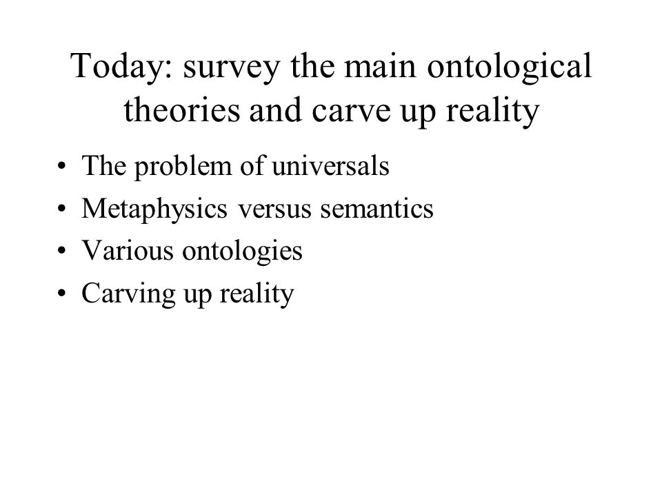 Field ontology Campbell: Abstract Particulars, ch..
