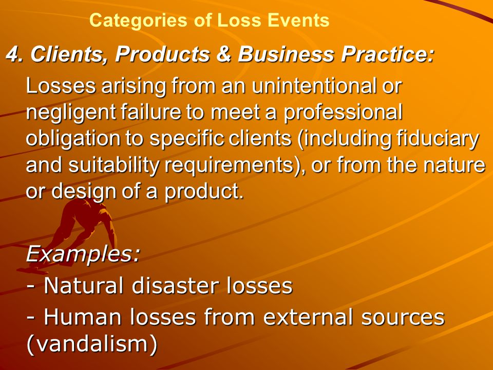 Categories of Loss Events 4.
