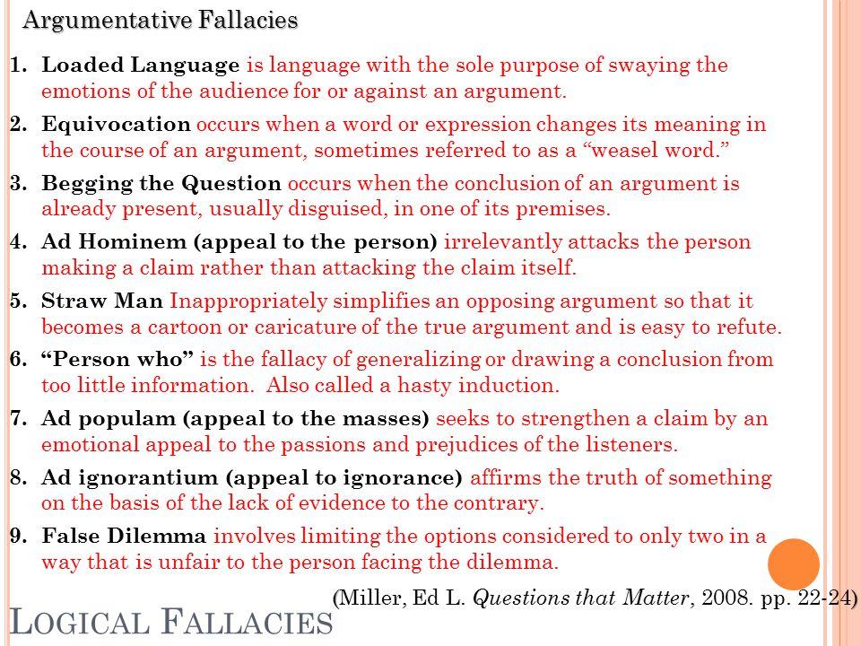 Argumentative Fallacies 1.