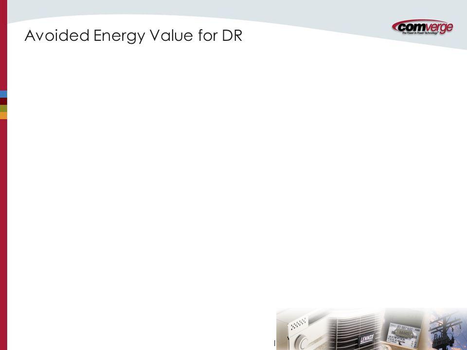 l Avoided Energy Value for DR