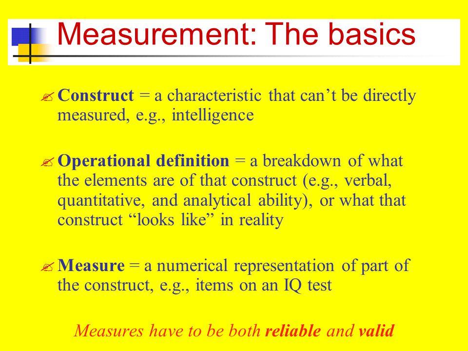 Measurement: The basics .