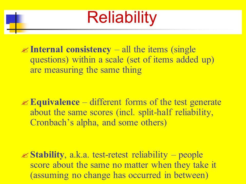 Reliability .
