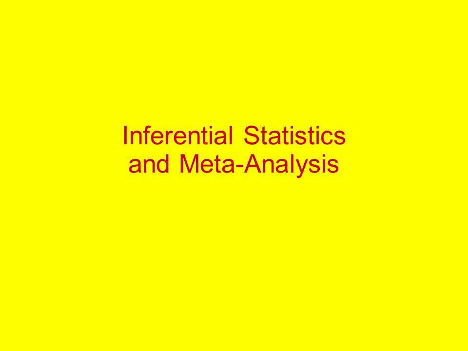 Inferential Statistics and Meta-Analysis