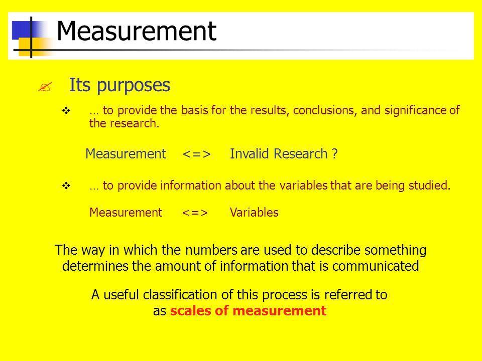 Measurement .