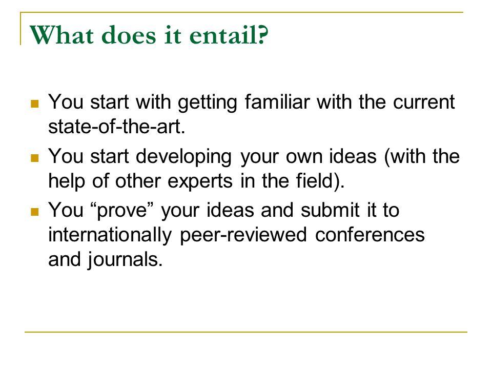 Advice: Keep a Research Journal.