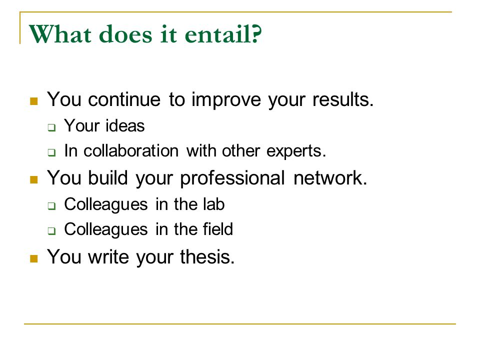 How? (Problems during PhD studies)