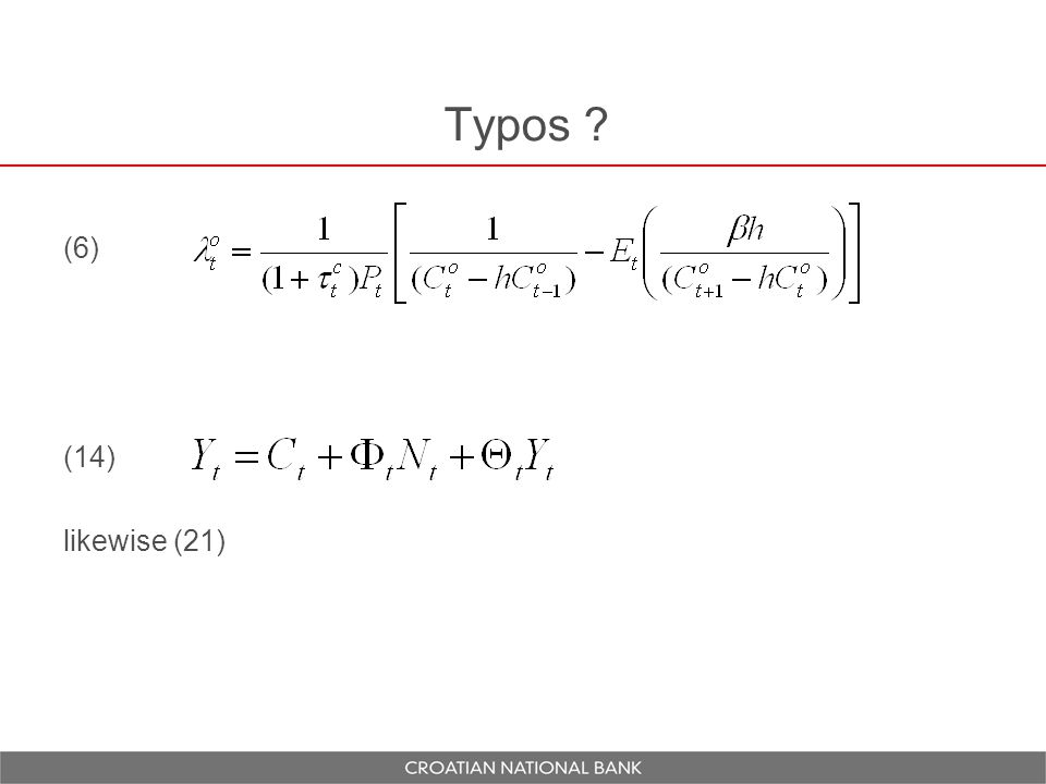 Typos ? (6) (14) likewise (21)