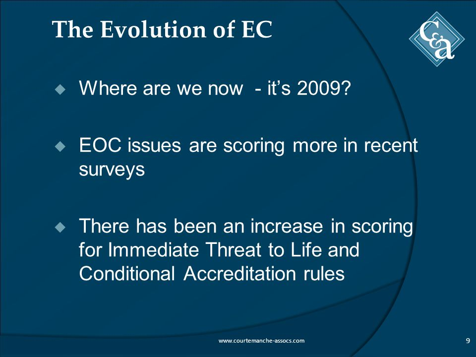 The Evolution of EC  Where are we now - it's 2009.