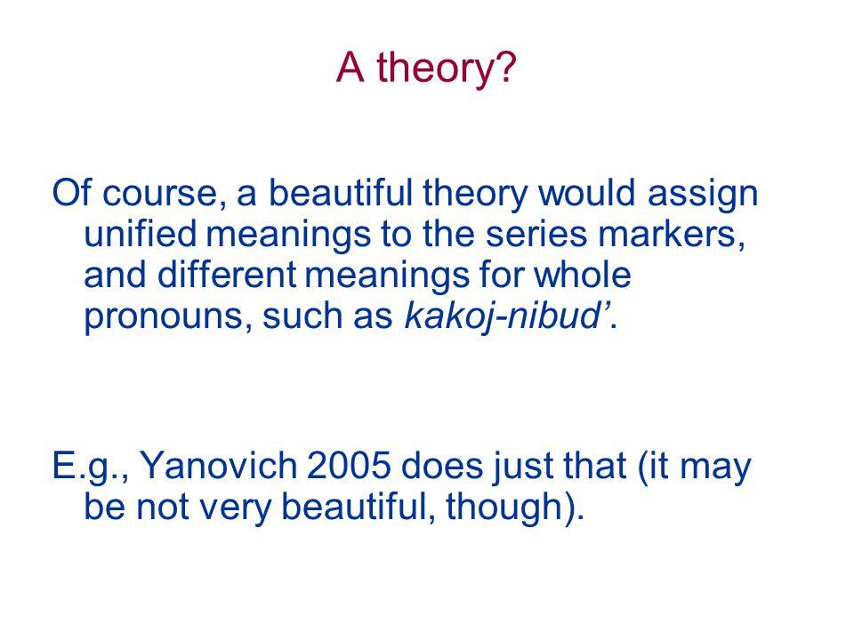 A theory.