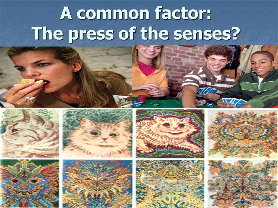 A common factor: The press of the senses? A common factor: The press of the senses?