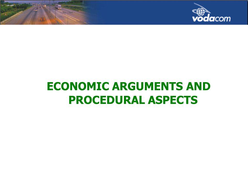 ECONOMIC ARGUMENTS AND PROCEDURAL ASPECTS
