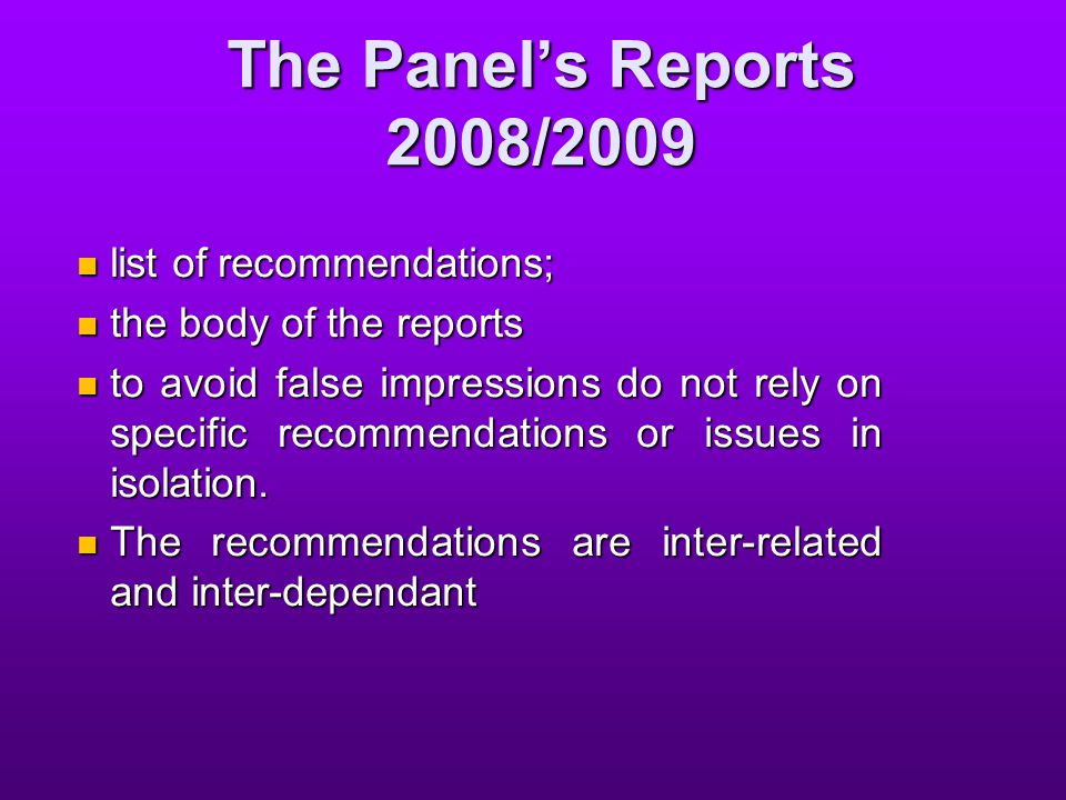Focus on Several of the Report's Recommendations reasonably practicable; reasonably practicable; worker; worker; officers; officers; discrimination, victimisation and coercion; discrimination, victimisation and coercion; OHS representatives; OHS representatives; issue/dispute resolution; and issue/dispute resolution; and penalties penalties