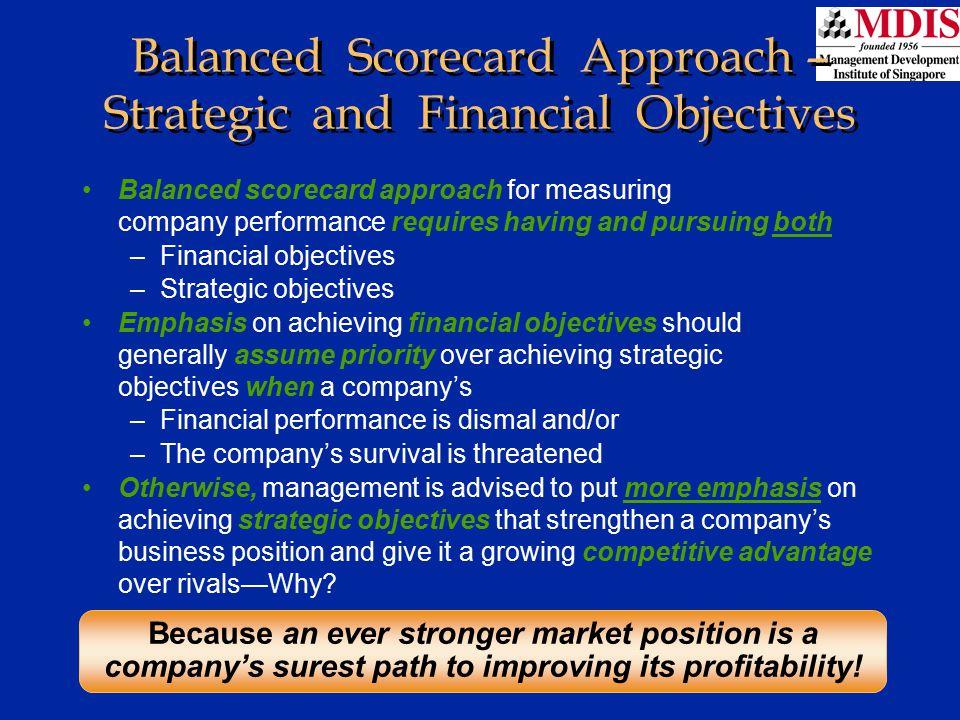 Lesson 1Module: JM006 Balanced Scorecard Approach – Strategic and Financial Objectives Balanced scorecard approach for measuring company performance r