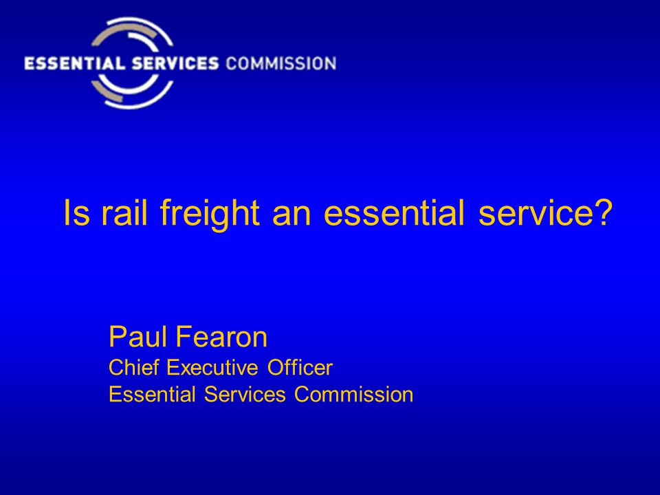 Is rail freight an essential service.