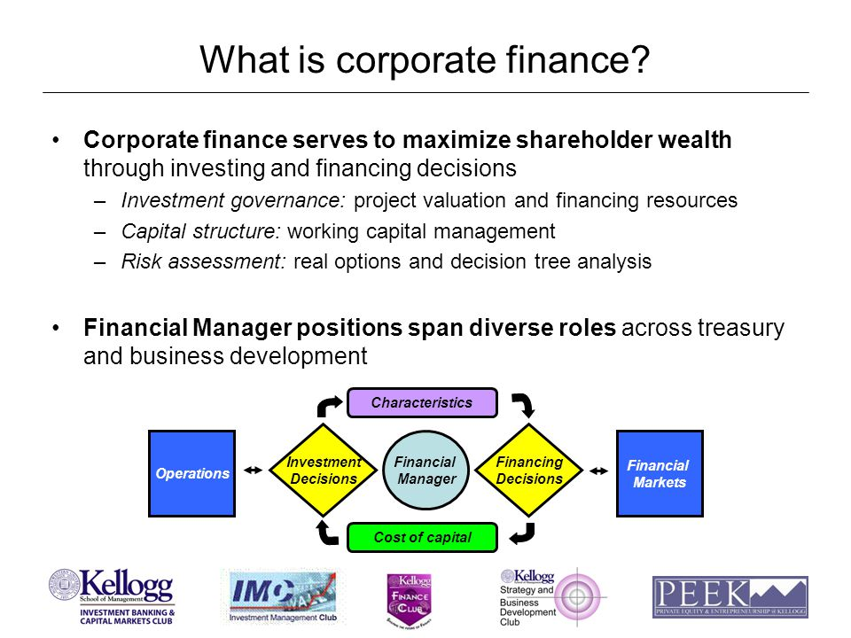 What do corporate finance roles entail.