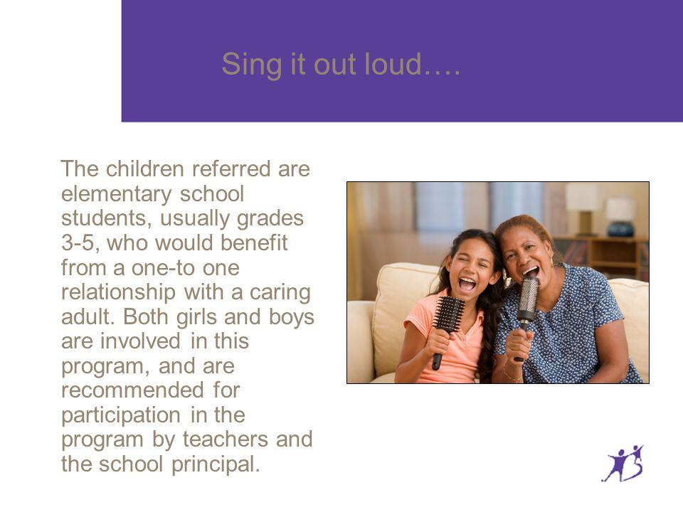 Sing it out loud….