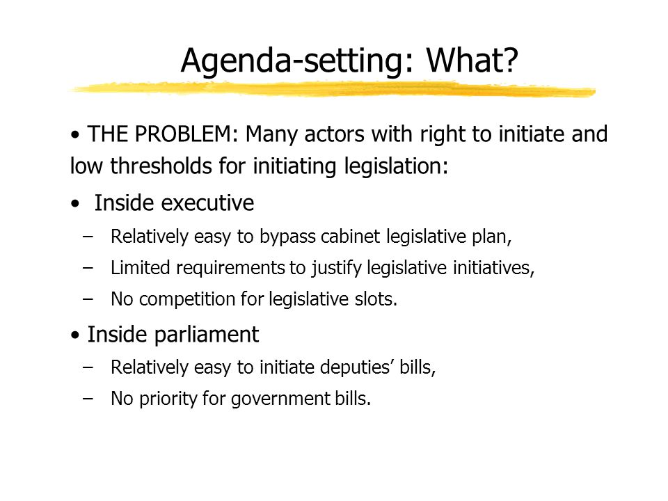 Agenda-setting: What.