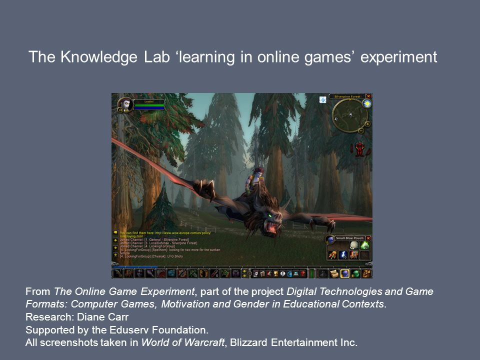 Learning theorists from the Knowledge Lab volunteered to play an online multiplayer game.