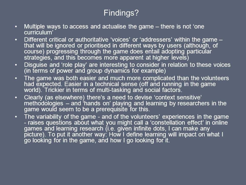 Findings.