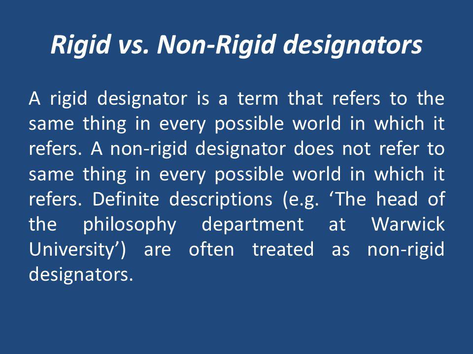 Rigid vs.