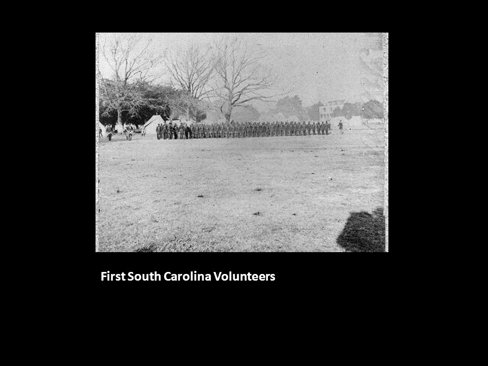 the Sea Islands during the Civil War Nov 1862: Higginson takes command of the 1 st SC Vols
