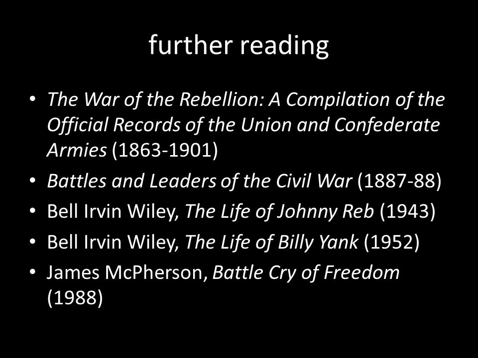 Civil War 1861-62 from union war to abolition war from conciliation to pragmatism modernizing of armies (more so for Union) modernizing of government (Union only)