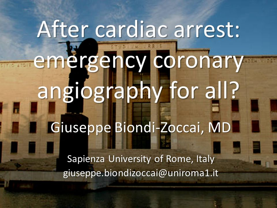 After cardiac arrest: emergency coronary angiography for all.