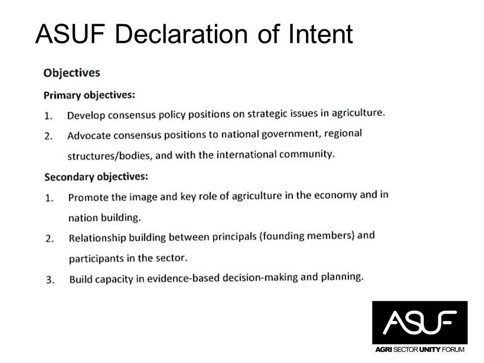 ASUF Declaration of Intent