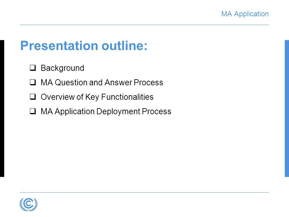 MA Application Decision 2/CP.17, Annex II, para.