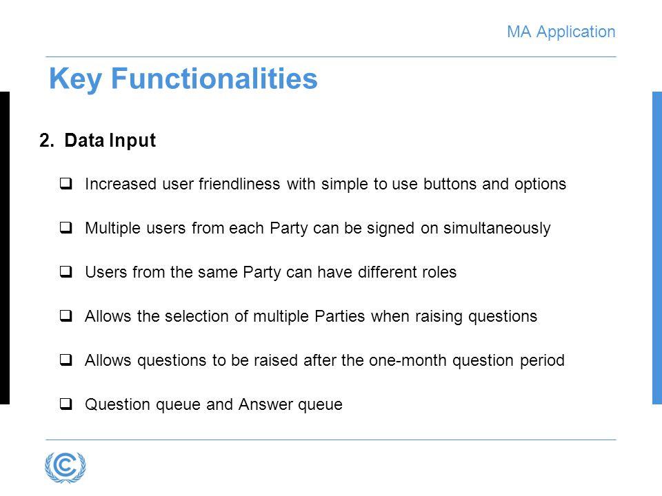 MA Application Data Input