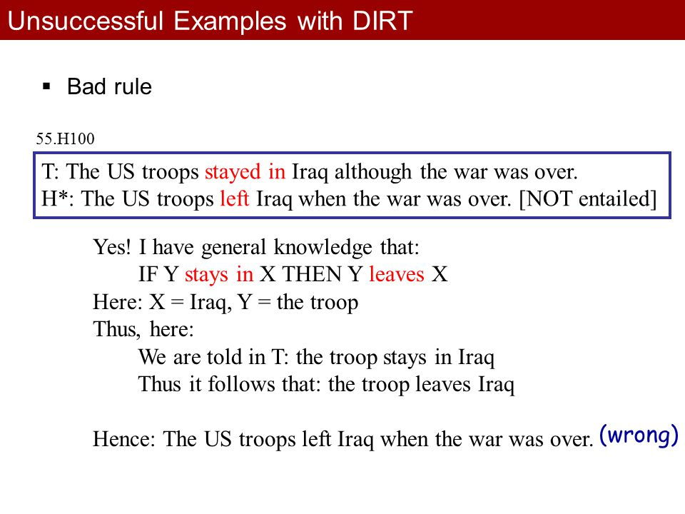 T: The US troops stayed in Iraq although the war was over.