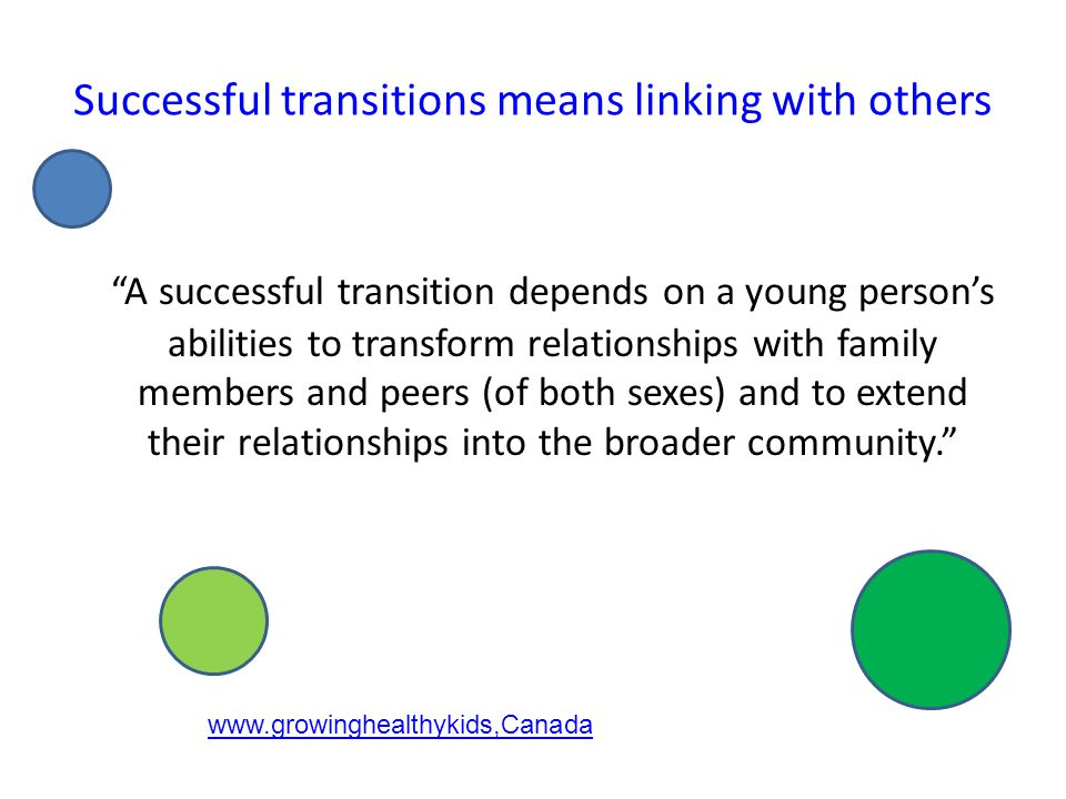 Effective transition programs reduce later levels of delinquency and substance abuse and increase school retention and achievement. Felner & Adan, 1998, Fuller, Bellhouse, Johnston & McGraw, 2001