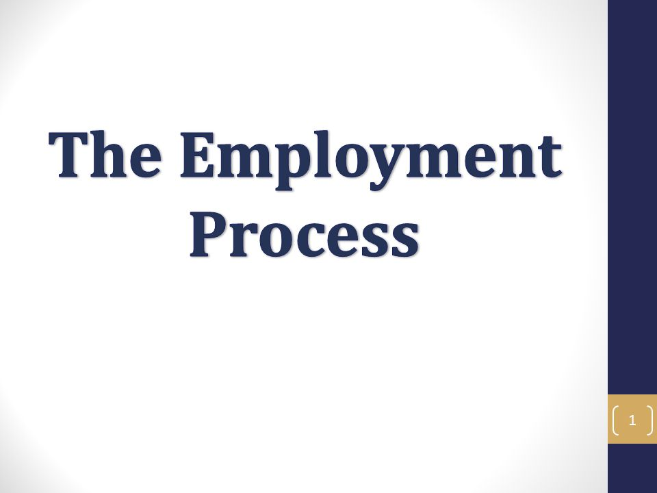 Employment Process - Objectives In the Employment Process training you will learn the necessary skills to navigate the employment process at ANR.
