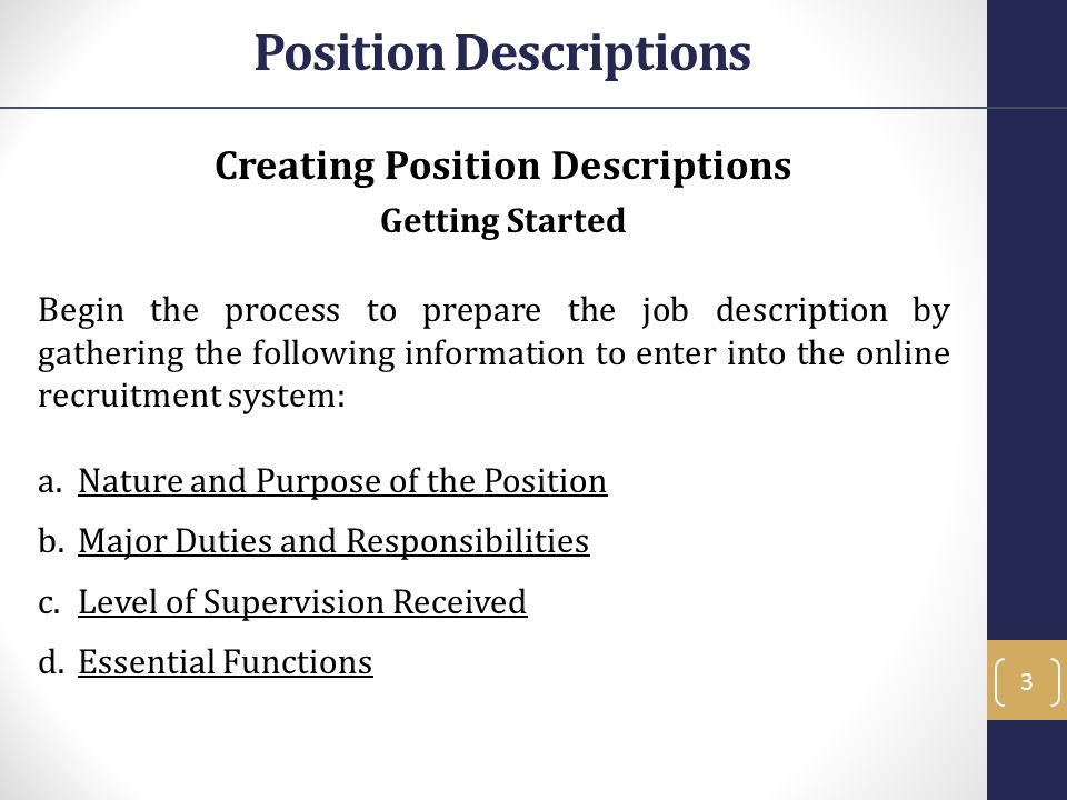 Affirmative Action Affirmative Action - Role in the Employment Process When a position is being classified the SPU reviews to ensure the position description follows all UC and ANR affirmative action policy.