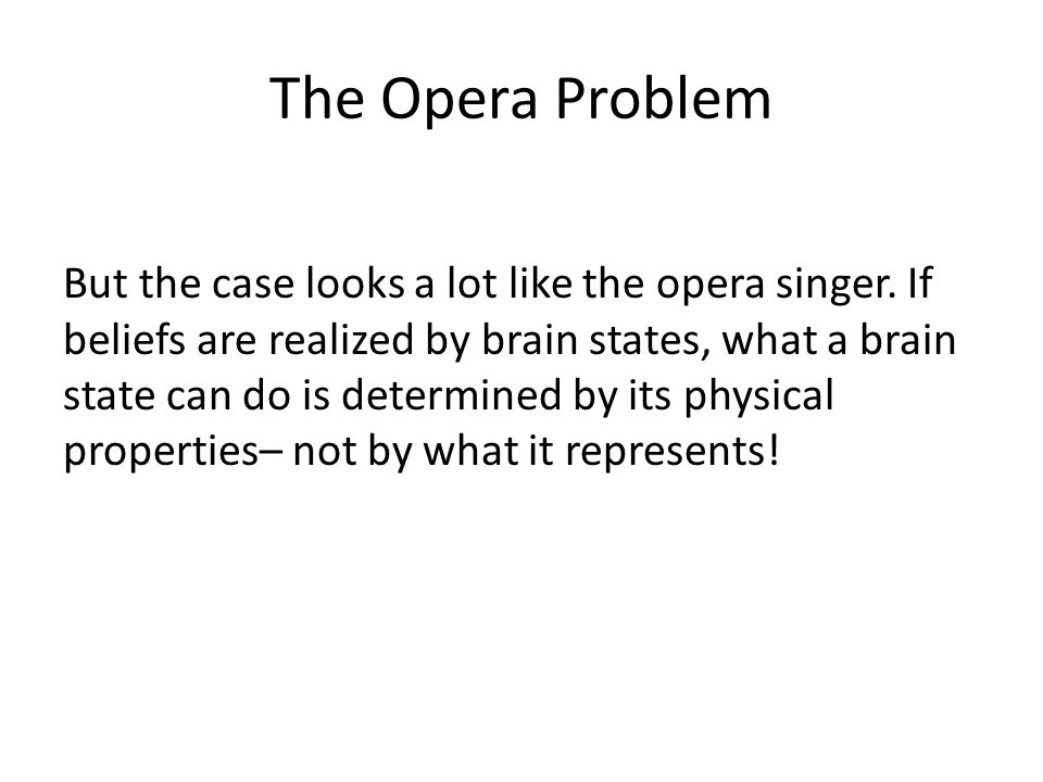 The Opera Problem But the case looks a lot like the opera singer.