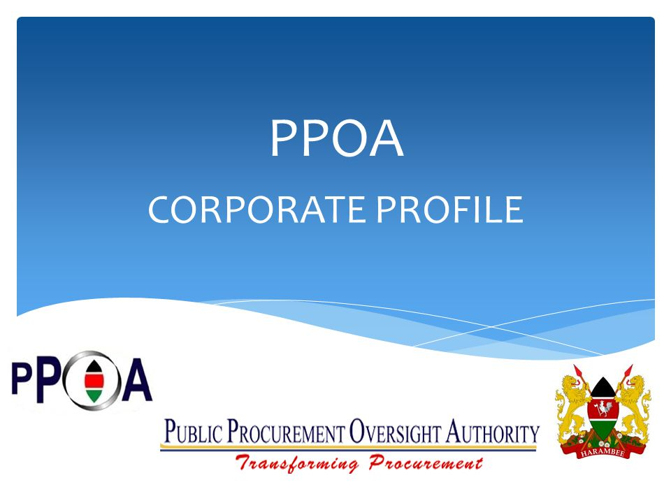 PPOA CORPORATE PROFILE
