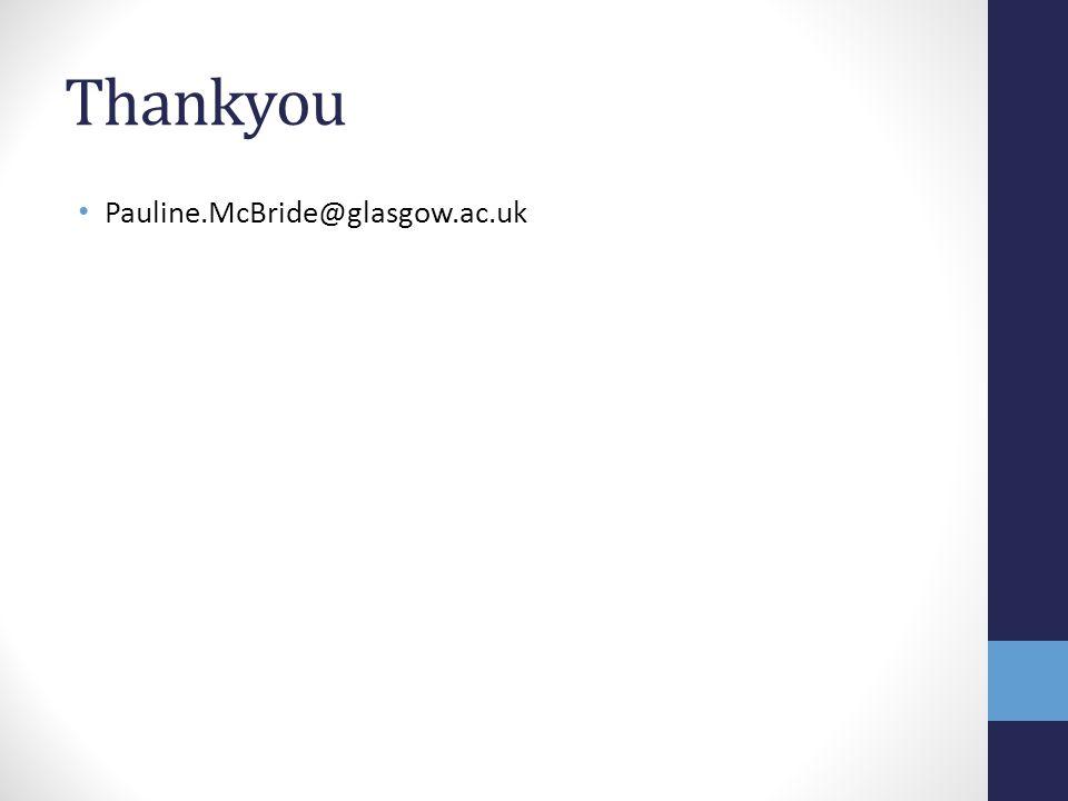 Thankyou Pauline.McBride@glasgow.ac.uk